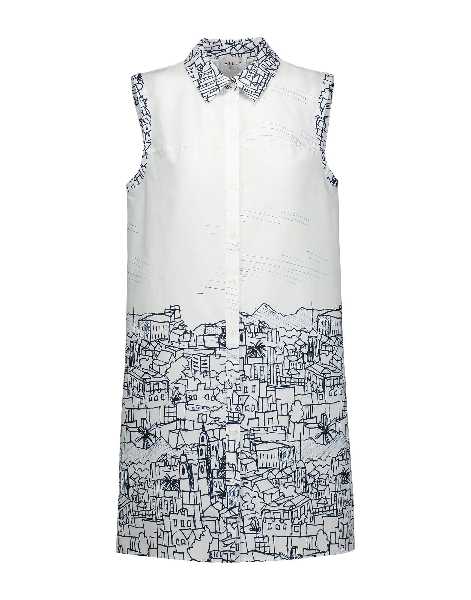 MILLY Короткое платье milly миди платье liz