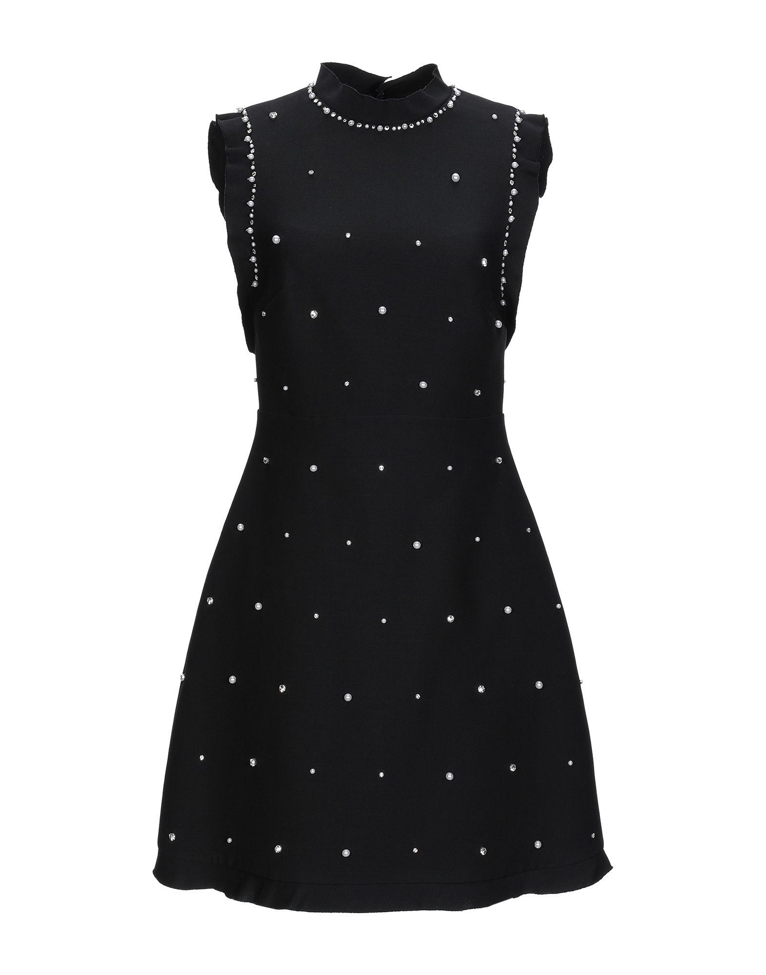 MIU MIU Короткое платье miu miu черный шерстяной кардиган