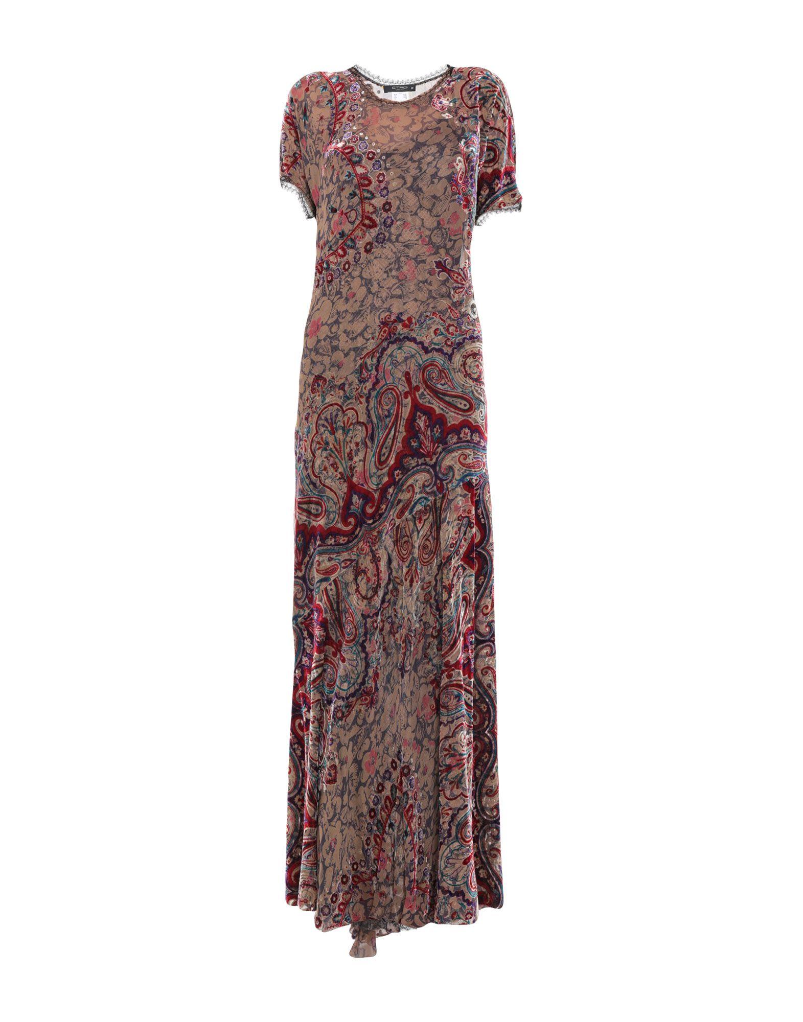 где купить ETRO Длинное платье дешево