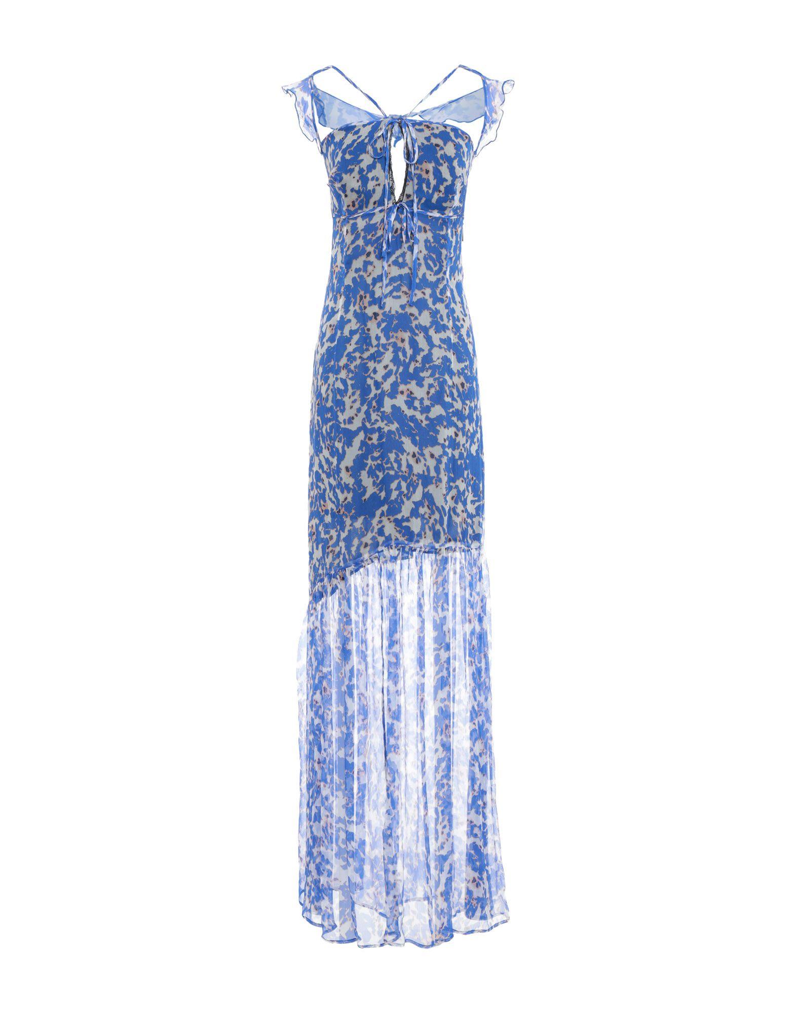 GUESS BY MARCIANO Damen Langes Kleid3 blau