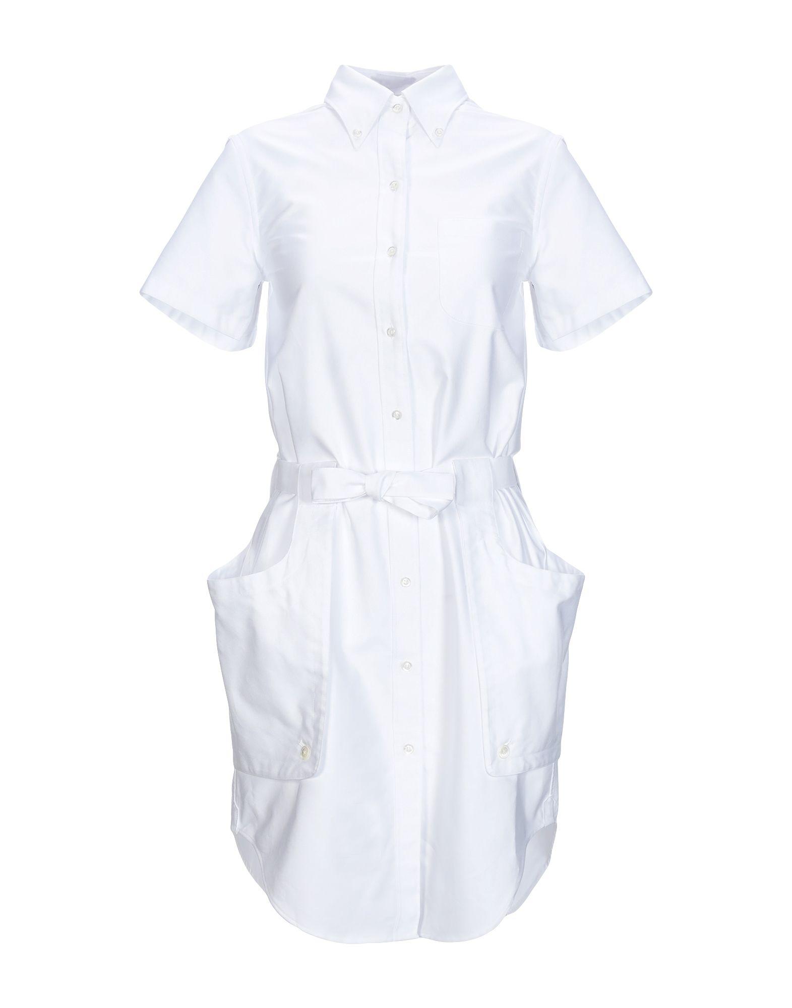 THOM BROWNE Короткое платье платье рубашка fox yulia sway платье рубашка fox