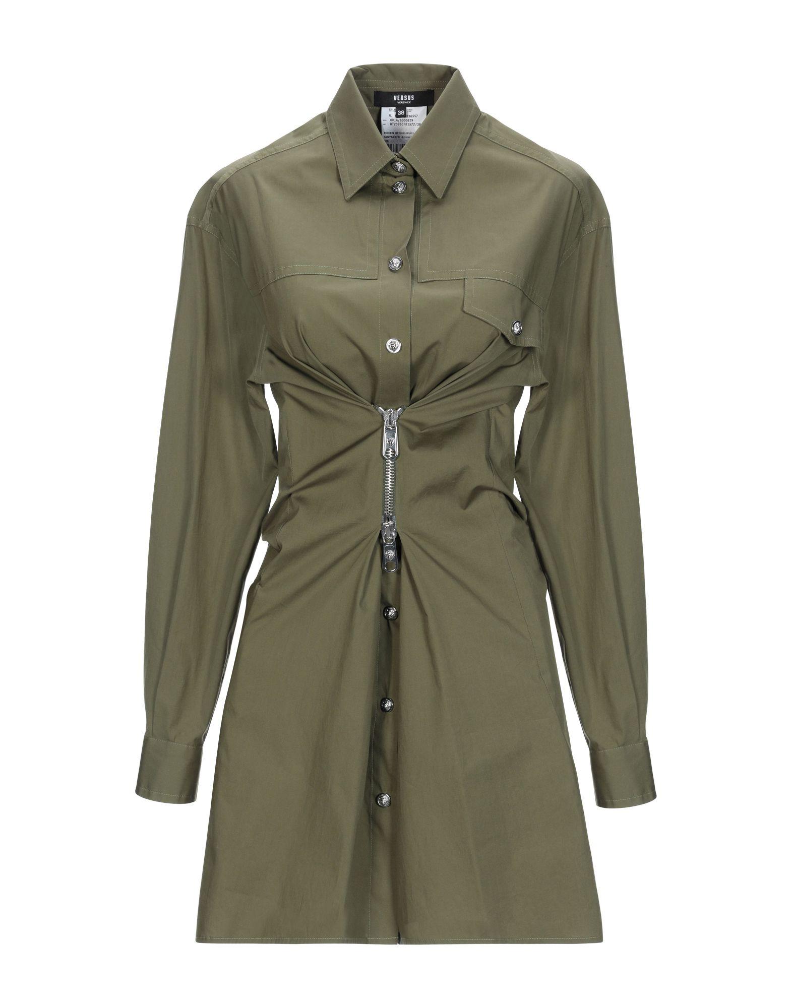 VERSUS VERSACE Короткое платье платье рубашка fox yulia sway платье рубашка fox