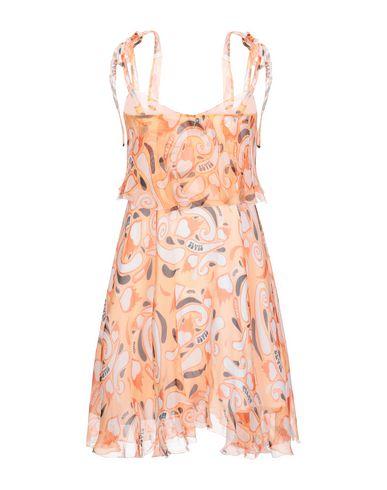 Фото 2 - Женское короткое платье  оранжевого цвета
