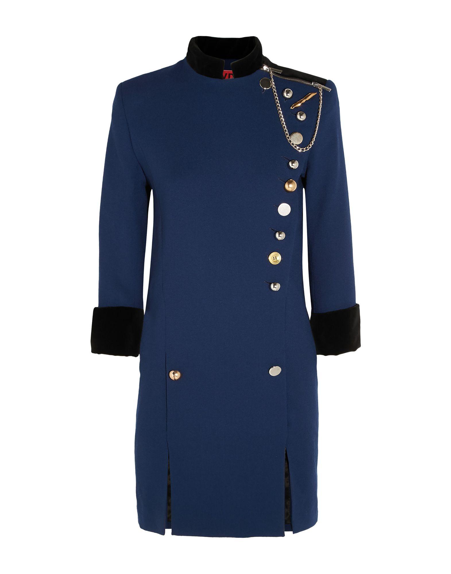 《セール開催中》RONALD VAN DER KEMP レディース ミニワンピース&ドレス ブライトブルー 34 コットン 100% / シルク