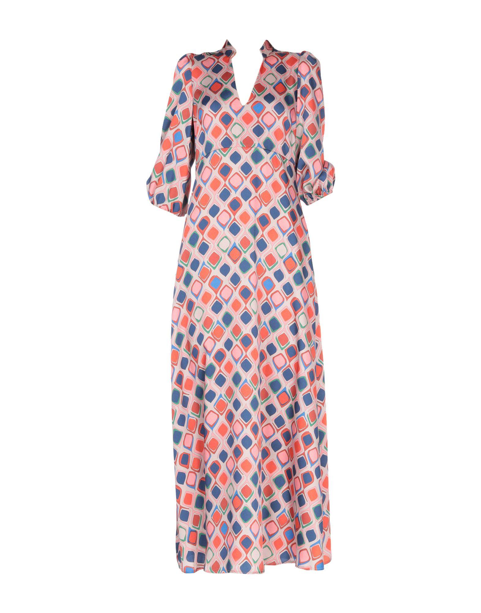 《送料無料》HOPPER レディース ロングワンピース&ドレス ドーブグレー 40 ポリエステル 100%