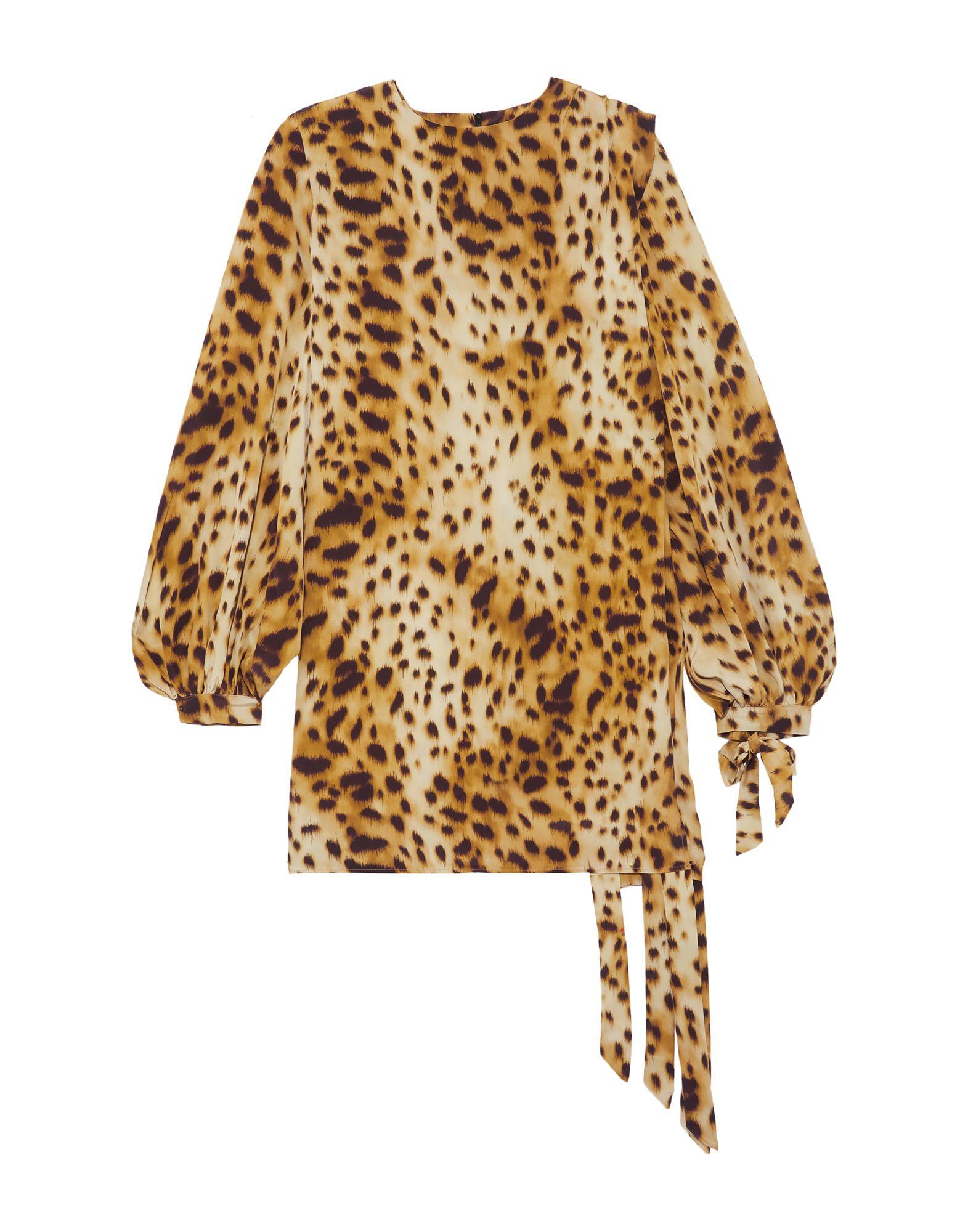 《セール開催中》RONALD VAN DER KEMP レディース ミニワンピース&ドレス ベージュ 34 シルク 100%