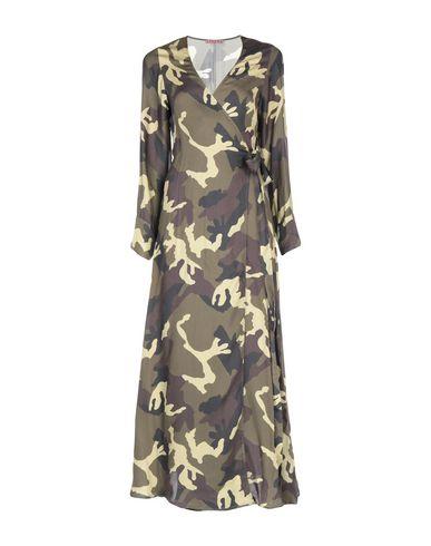 Фото - Женское длинное платье  цвет зеленый-милитари