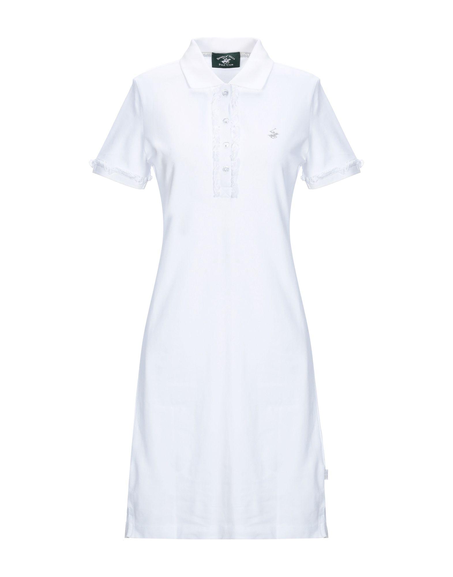 BEVERLY HILLS POLO CLUB Damen Kurzes Kleid Farbe Weiß Größe 5