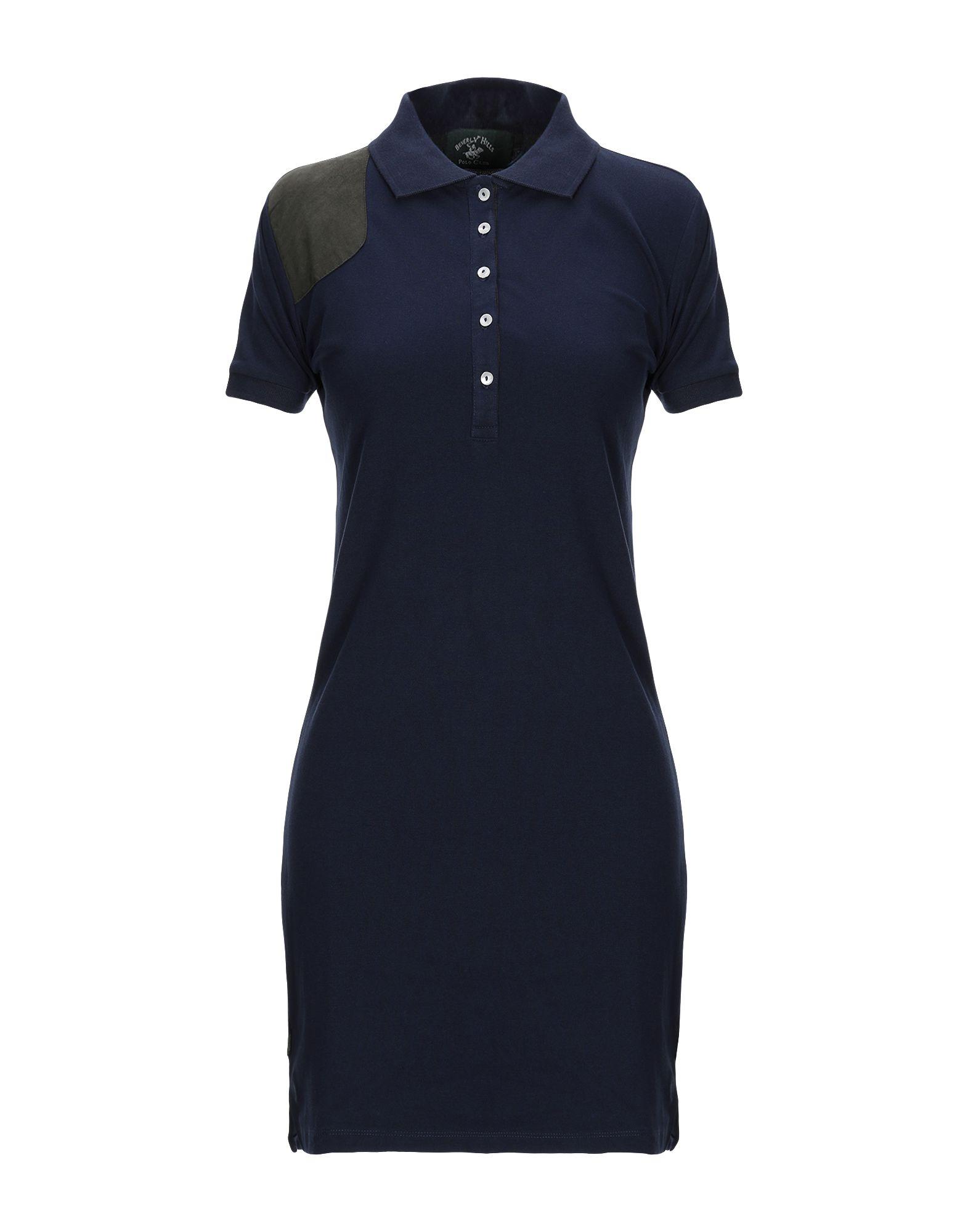 BEVERLY HILLS POLO CLUB Damen Kurzes Kleid Farbe Dunkelblau Größe 5