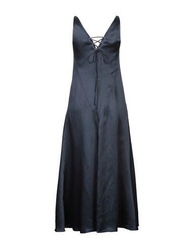 Фото 2 - Платье длиной 3/4 темно-синего цвета