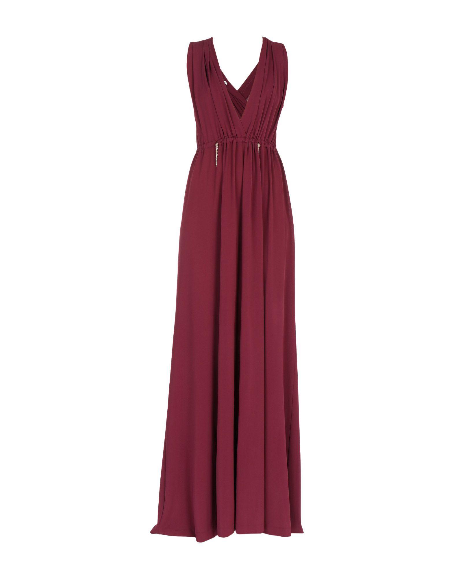 LALTRAMODA Длинное платье платье длинное без рукавов из кружева bina