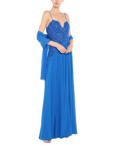 Фото 2 - Женское длинное платье  синего цвета
