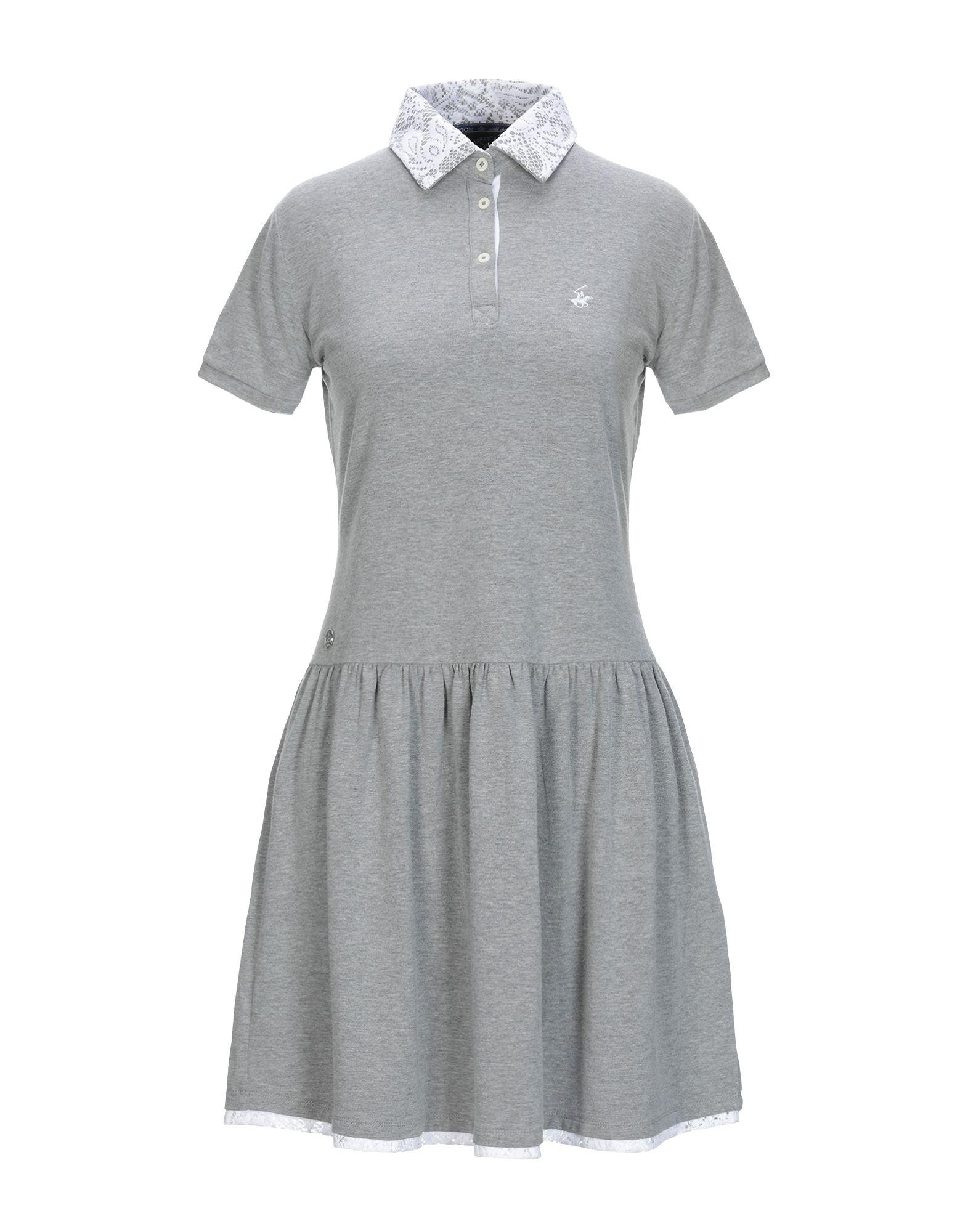 BEVERLY HILLS POLO CLUB Damen Kurzes Kleid Farbe Grau Größe 5
