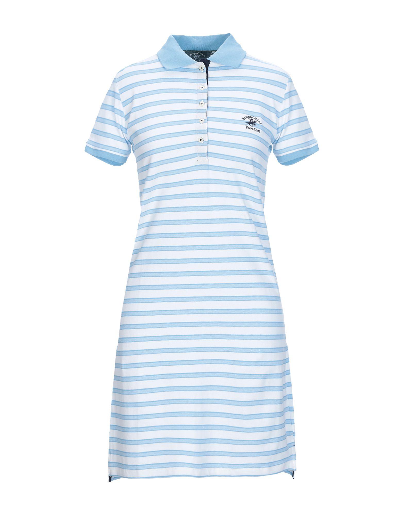 BEVERLY HILLS POLO CLUB Damen Kurzes Kleid Farbe Himmelblau Größe 5