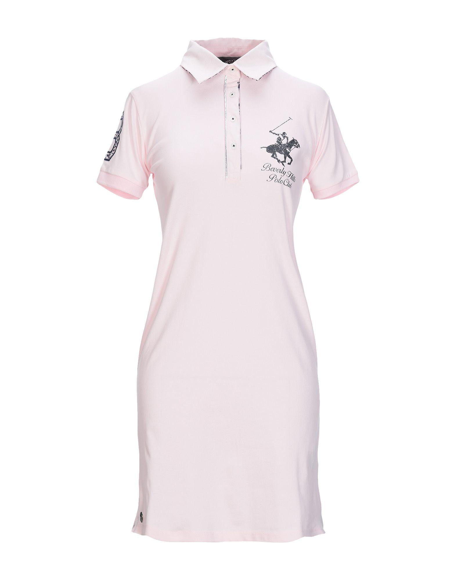 BEVERLY HILLS POLO CLUB Damen Kurzes Kleid Farbe Rosa Größe 5