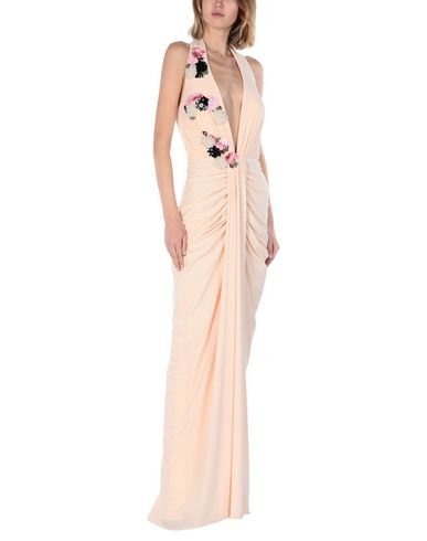 Фото 2 - Женское длинное платье  цвет телесный