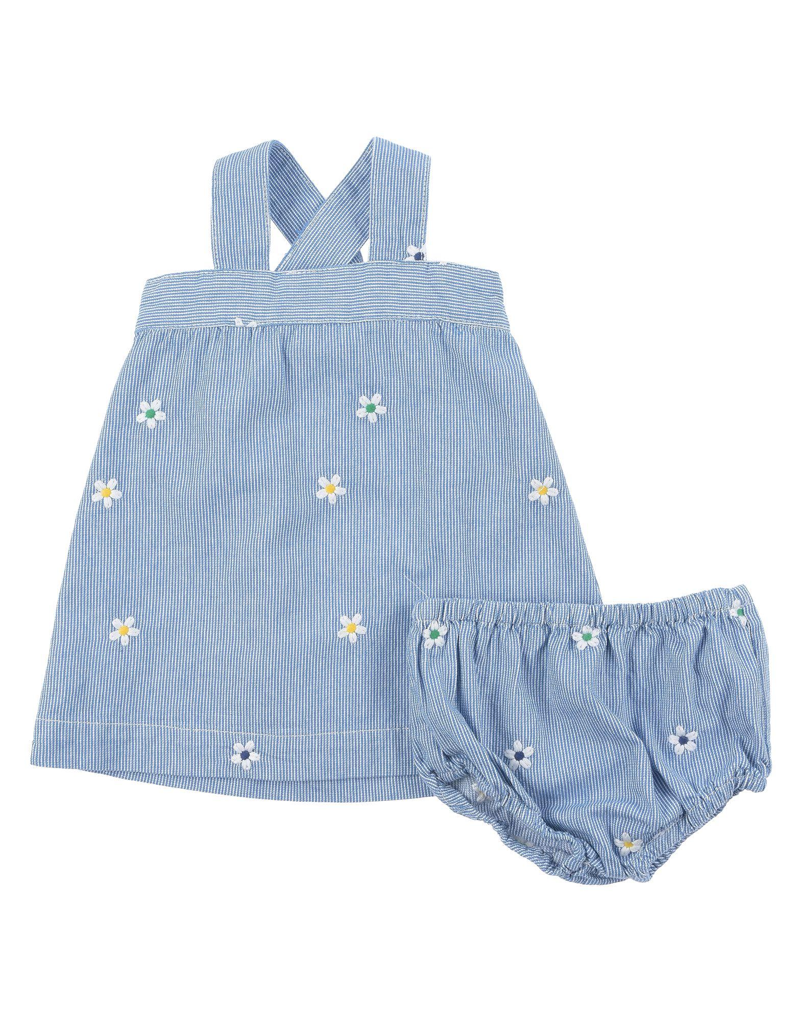 《セール開催中》STELLA McCARTNEY KIDS ガールズ 0-24 ヶ月 ワンピース・ドレス ブルー 6 コットン 100% / ポリエステル
