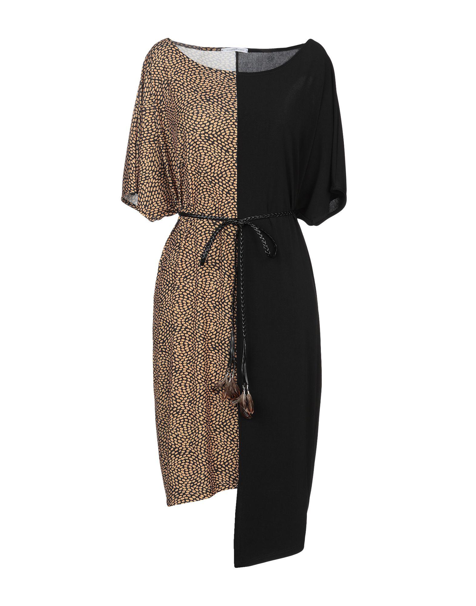 PAOLA PRATA Damen Kurzes Kleid Farbe Schwarz Größe 6