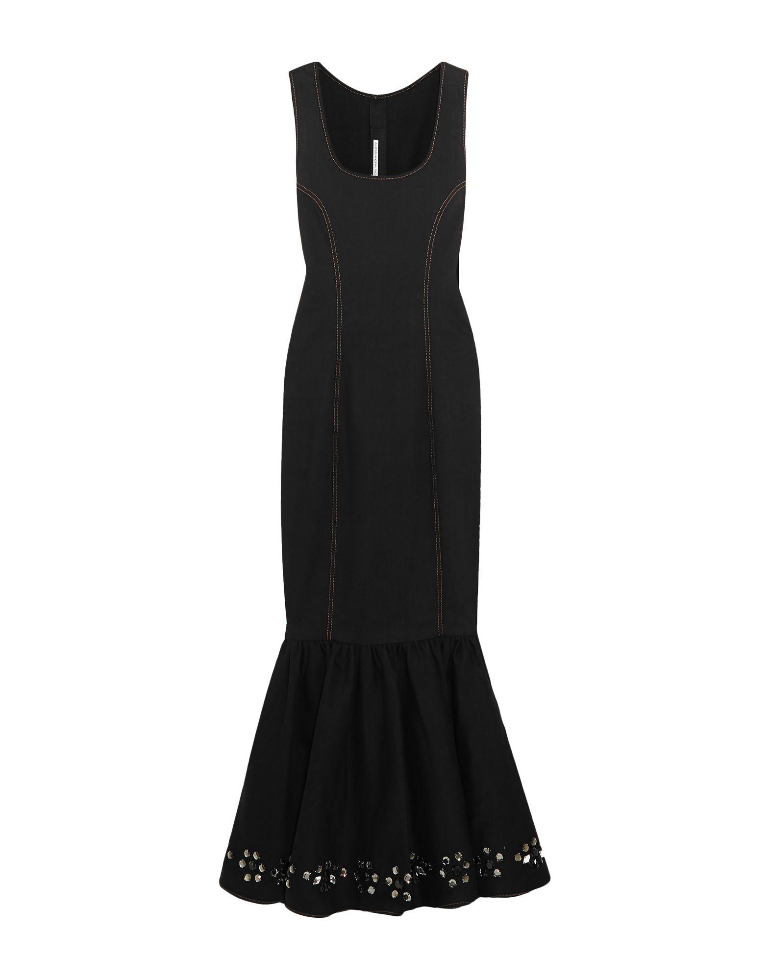 《セール開催中》ALESSANDRA RICH レディース ロングワンピース&ドレス ブラック 38 コットン 98% / ポリウレタン 2%