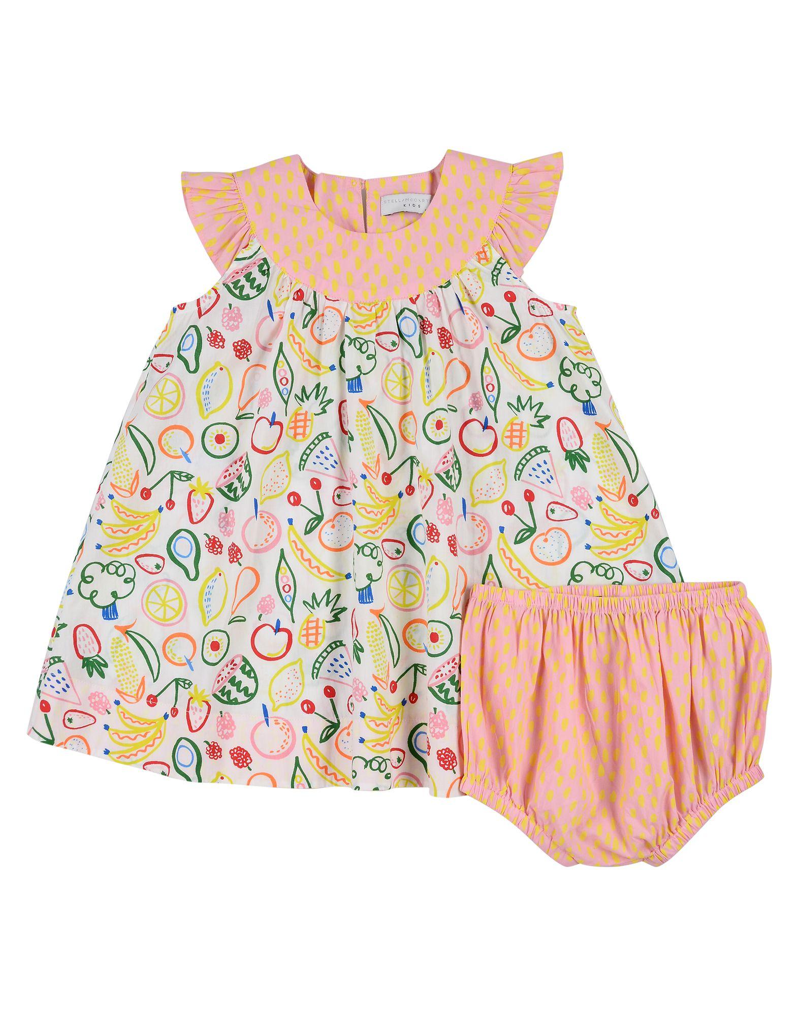 《セール開催中》STELLA McCARTNEY KIDS ガールズ 0-24 ヶ月 ワンピース・ドレス ホワイト 6 コットン 100%