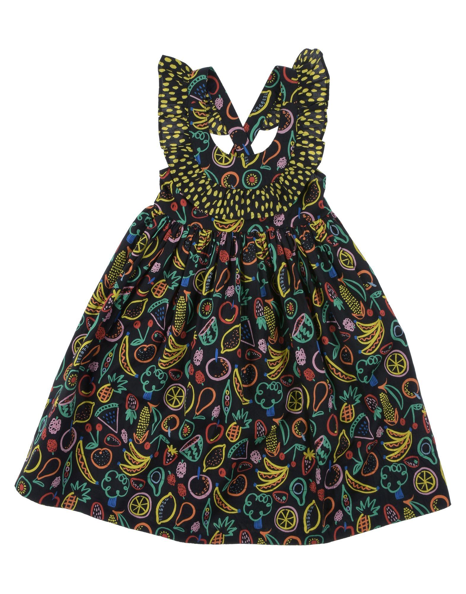 《セール開催中》STELLA McCARTNEY KIDS ガールズ 3-8 歳 ワンピース&ドレス ブラック 3 コットン 100%