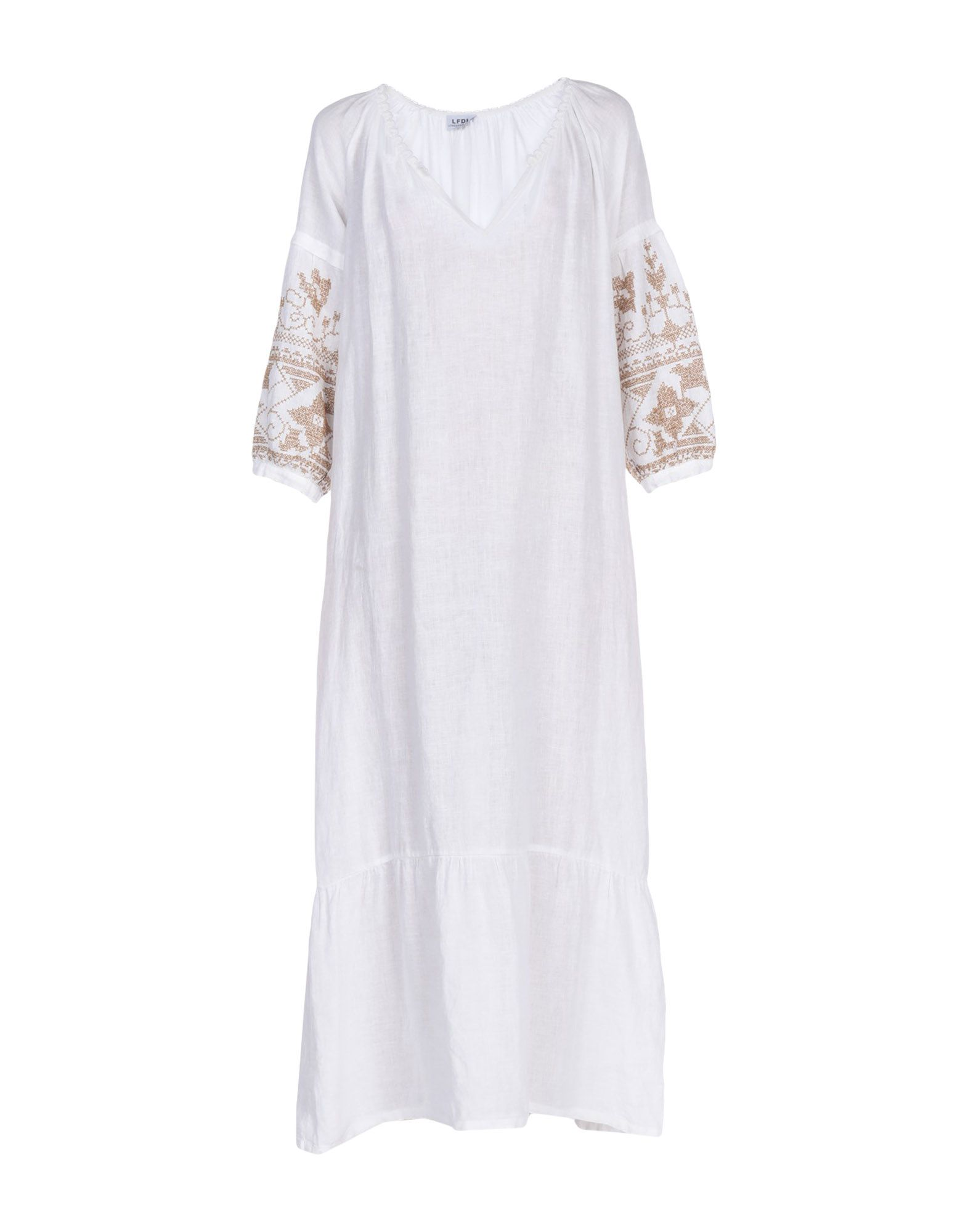 LA FABBRICA del LINO Платье длиной 3/4 цена 2017
