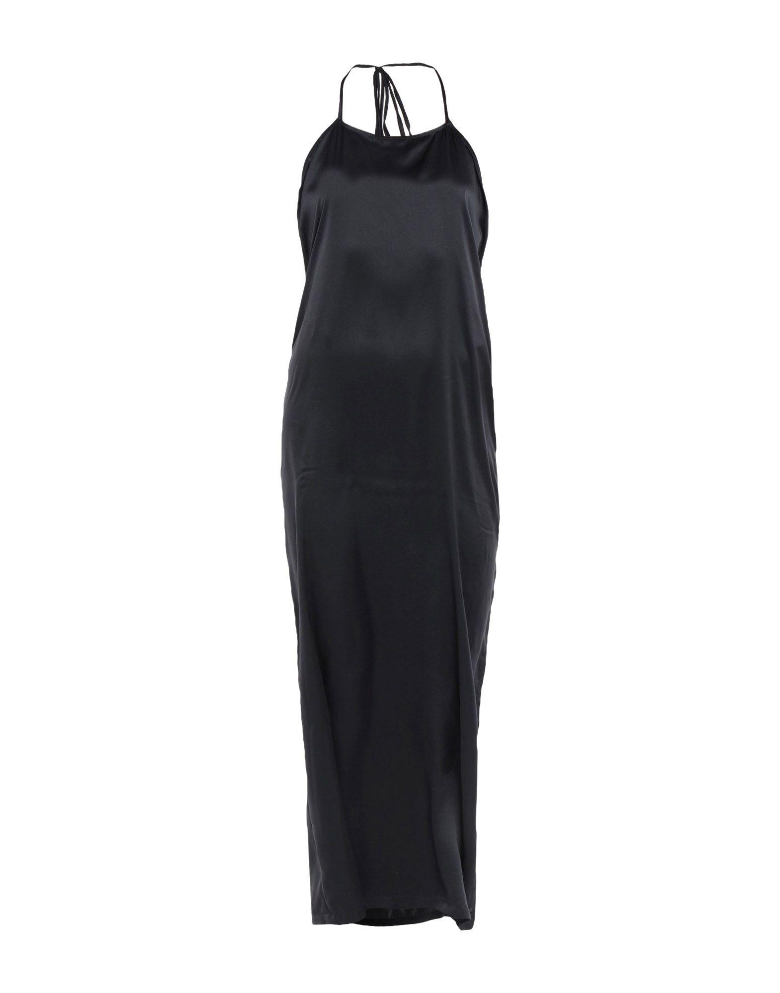 《期間限定セール中》SARTORIAL MONK レディース ロングワンピース&ドレス ブラック 40 シルク 100%