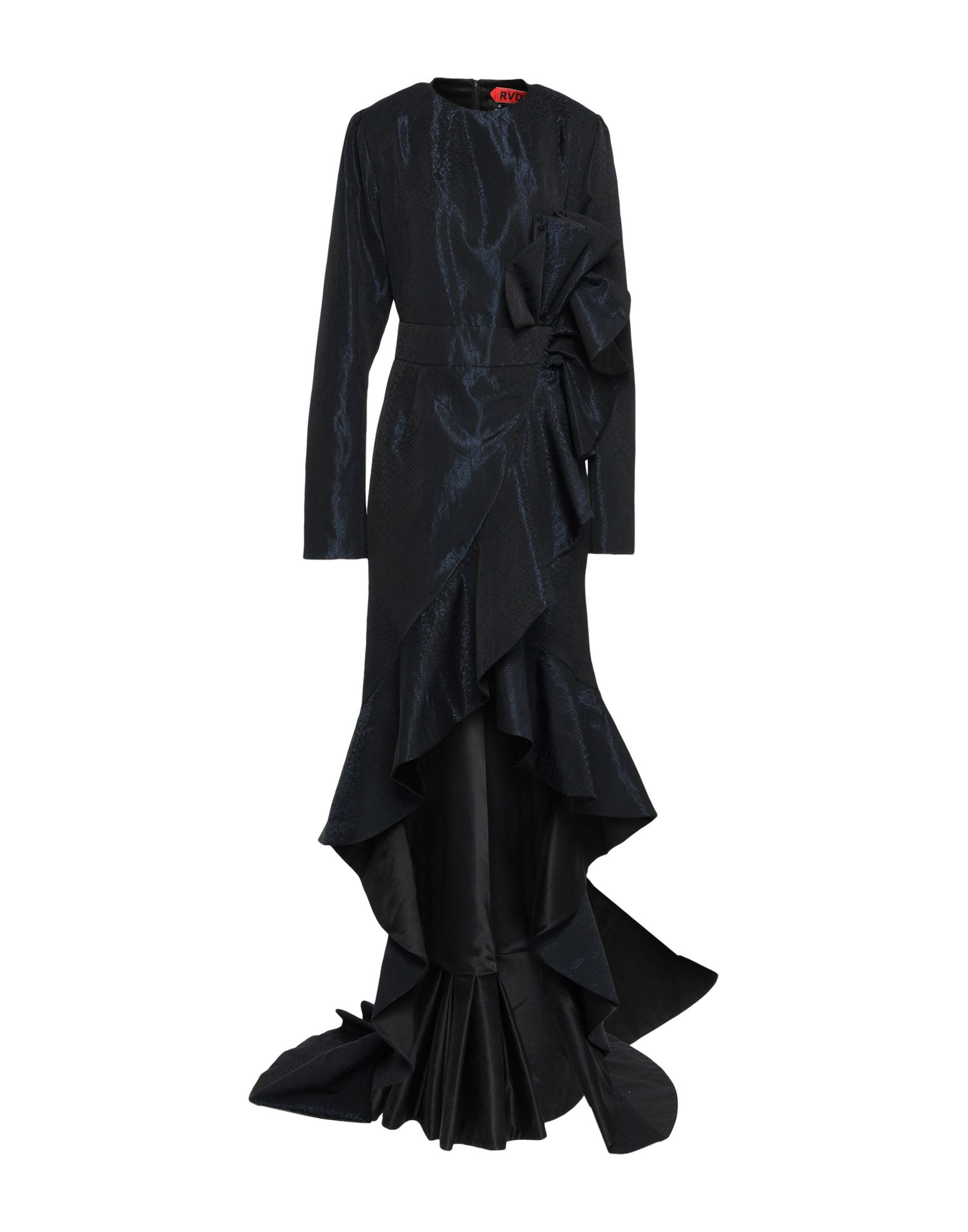 《セール開催中》RONALD VAN DER KEMP レディース ミニワンピース&ドレス ダークブルー 36 ナイロン 60% / アセテート 40%