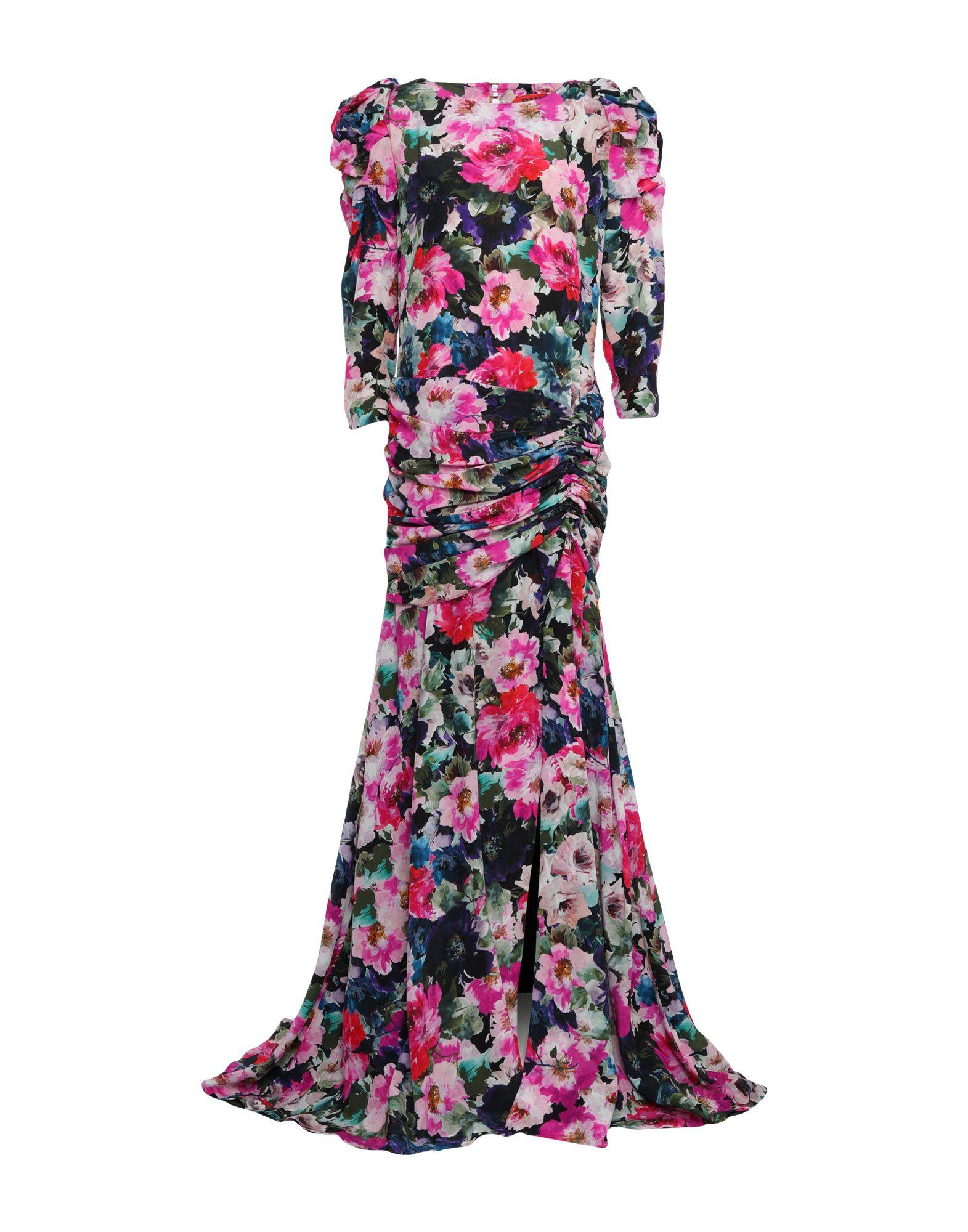 《セール開催中》RONALD VAN DER KEMP レディース ロングワンピース&ドレス モーブ 40 シルク 100%