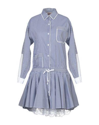 Фото - Женское короткое платье SE-TA Rosy Iacovone темно-синего цвета