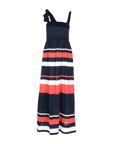 Купить Женское длинное платье BLUE LES COPAINS темно-синего цвета