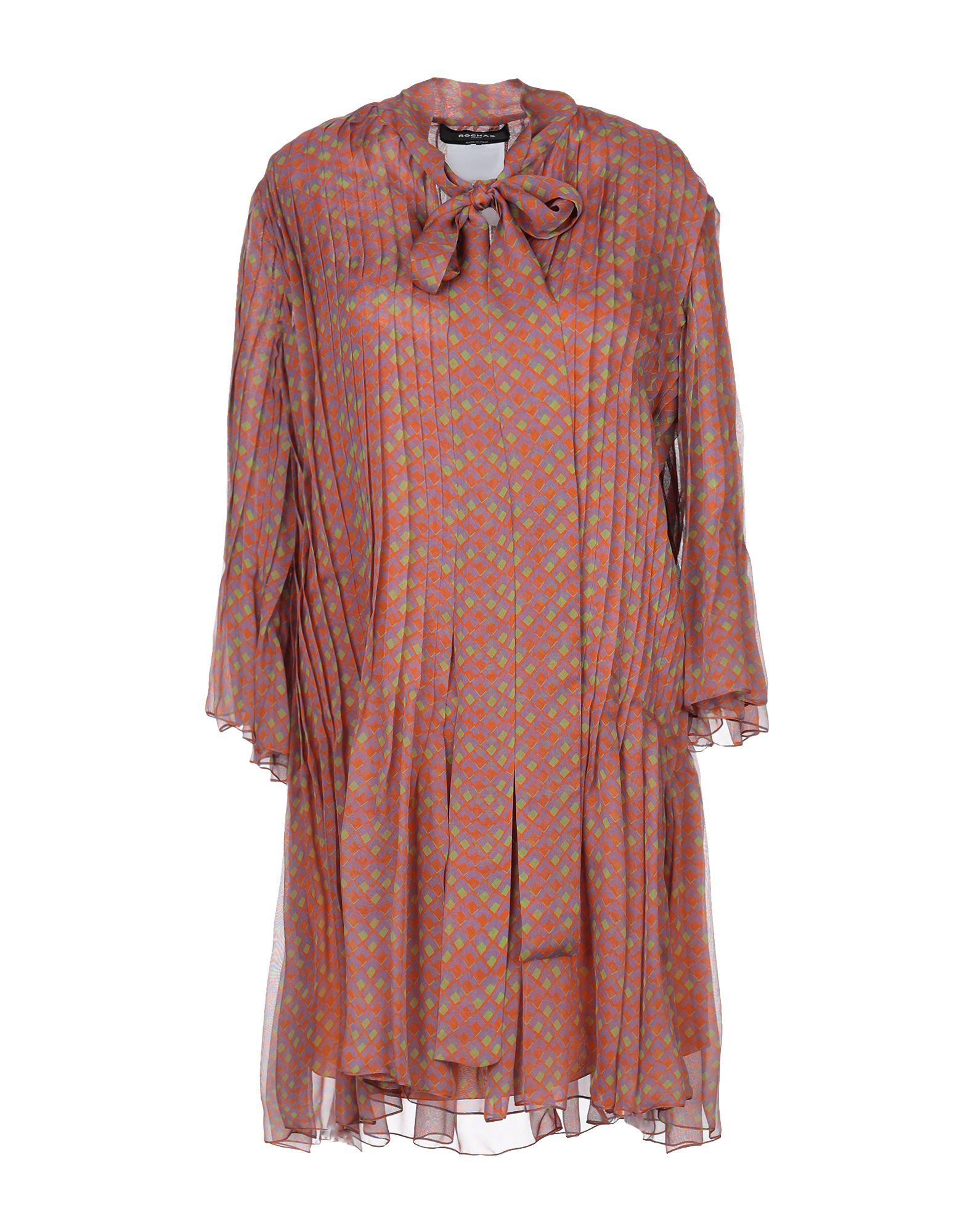 ROCHAS Короткое платье rochas шерстяное платье с кулиской