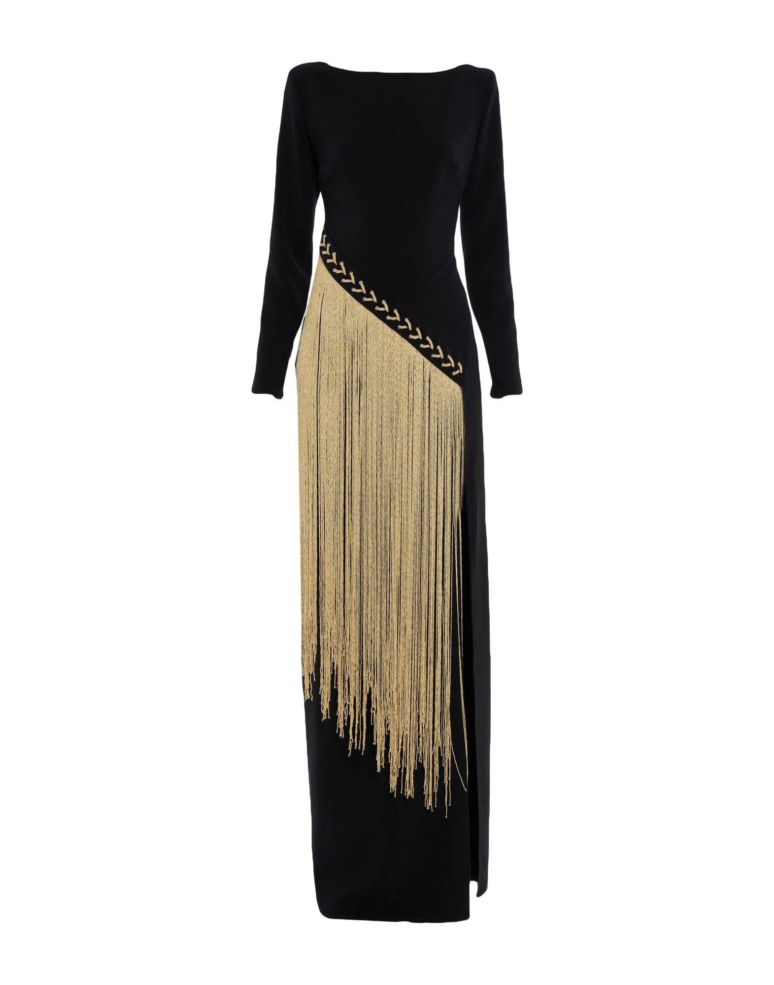 ELISABETTA FRANCHI Длинное платье elisabetta franchi черное асимметричное платье