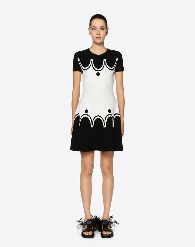 Graphic Shade Stretch Viscose Dress