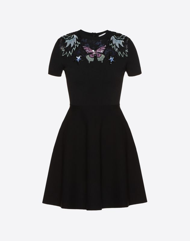 Embellished Stretch Viscose Dress
