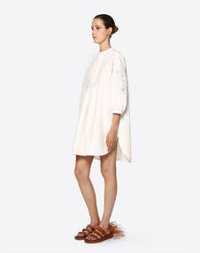 Embellished Cotton Cady and Macramé Dress