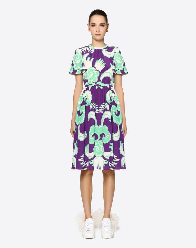073b1390f8 Graphic Arras Crepe de Chine Dress