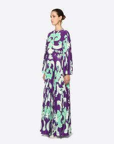 Graphic Arras Crepe de Chine Dress