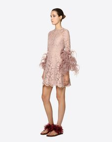 Embellished Heavy Lace Dress