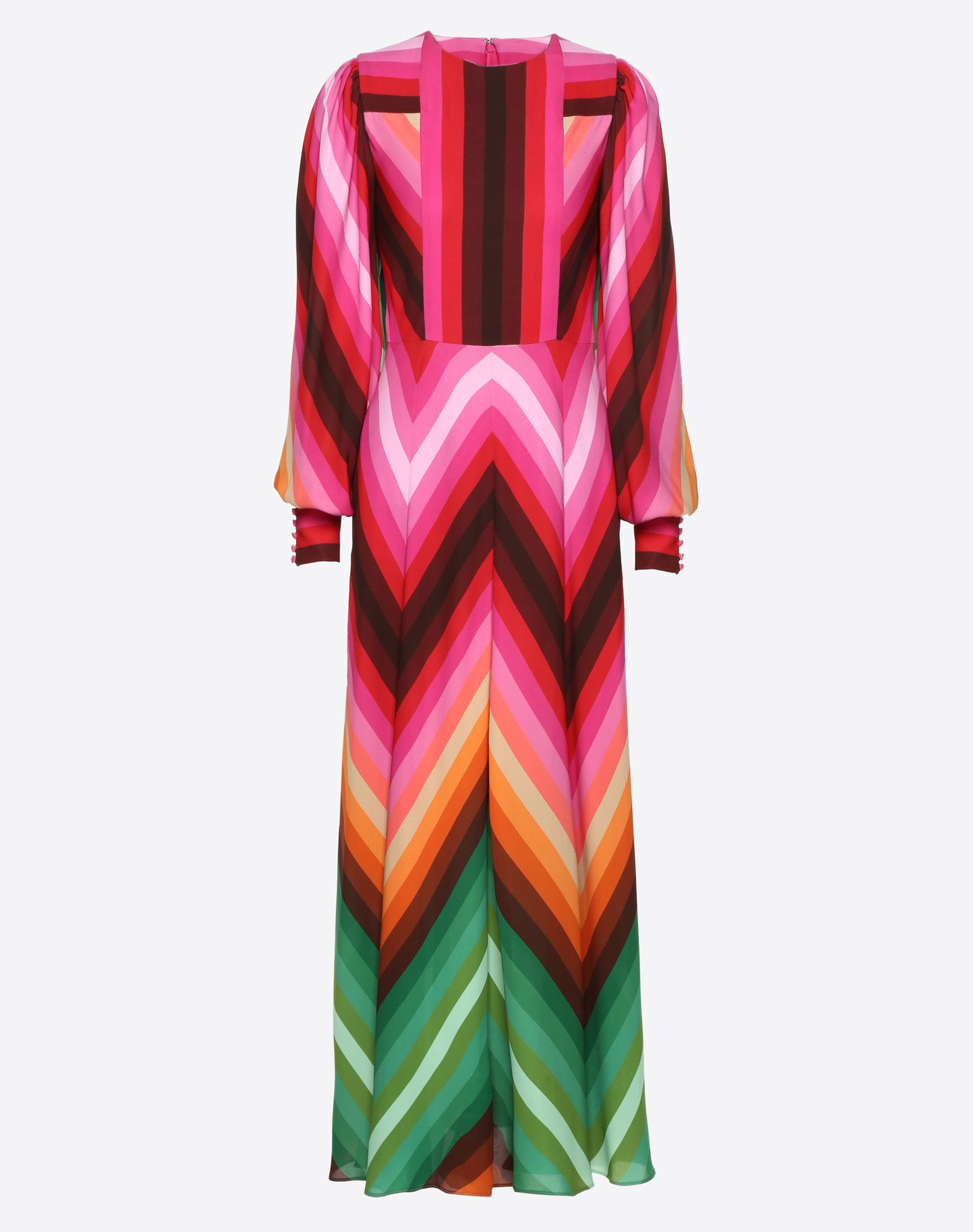 Bayadère Crepe de Chine Dress
