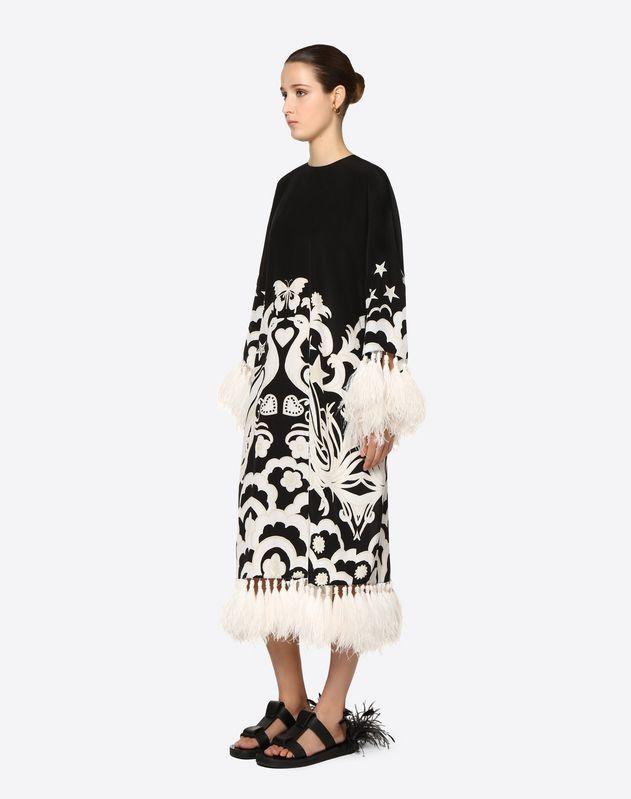 Vestido bordado de crespón de China Fenice