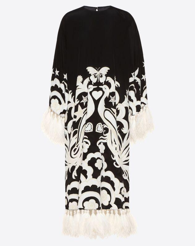 faf7e6e48f3 Phoenix Embellished Crepe de Chine Dress for Woman | Valentino Online  Boutique
