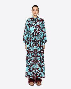 Tapestry Crepe de Chine Dress