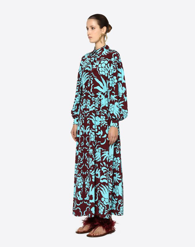 Tapestry Crepe de Chine Dress