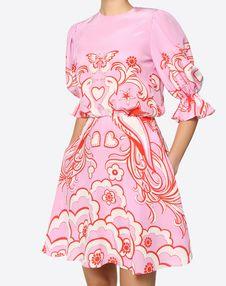 Phoenix Crepe de Chine Dress
