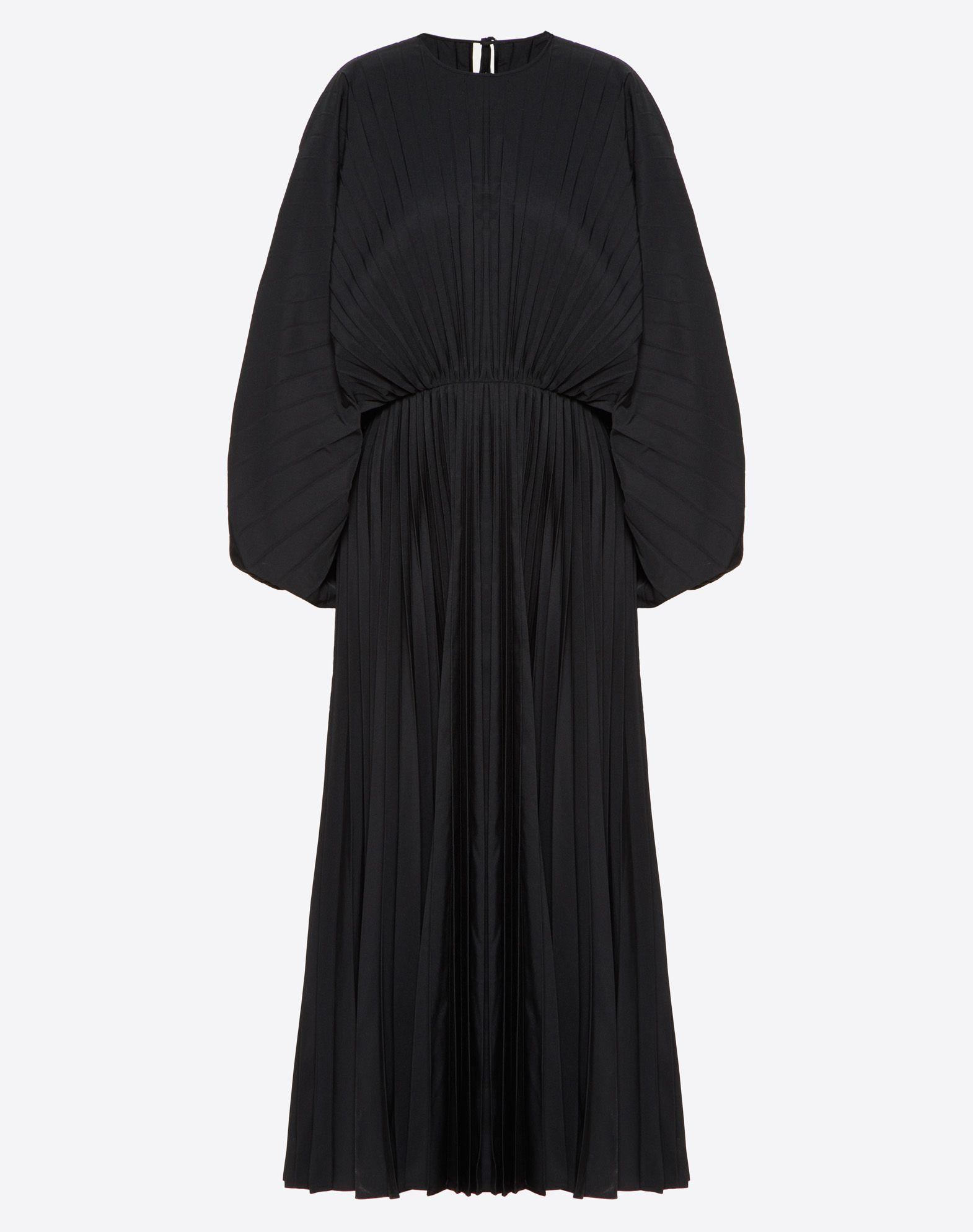 Pleated Micro Faille Dress