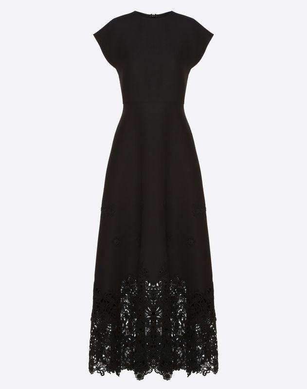Crepe Couture and Macramé Inlay Dress