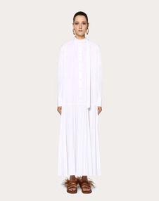 Pleated Technical Poplin Dress