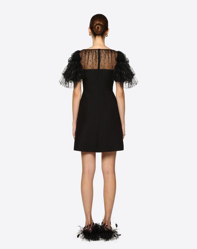 자수 장식 크레이프 쿠튀르 & 튤 드레스