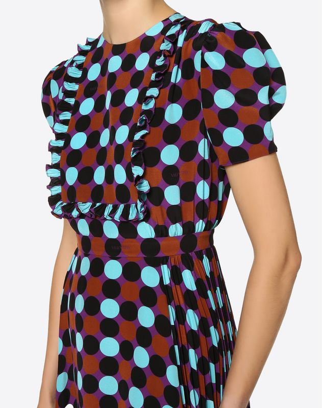 Colour Dots Crepe de Chine Dress